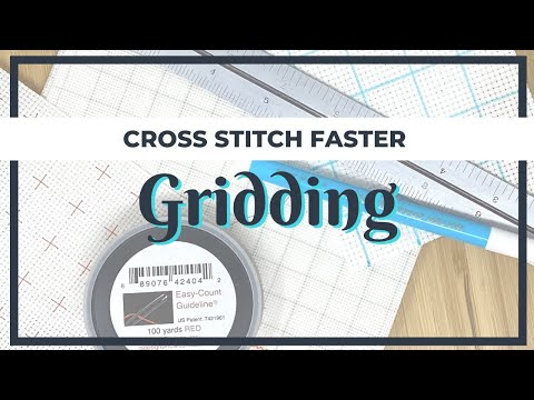 Cross Stitch Faster By Gridding Your Fabric | Cross Stitch For Beginners | Flosstube