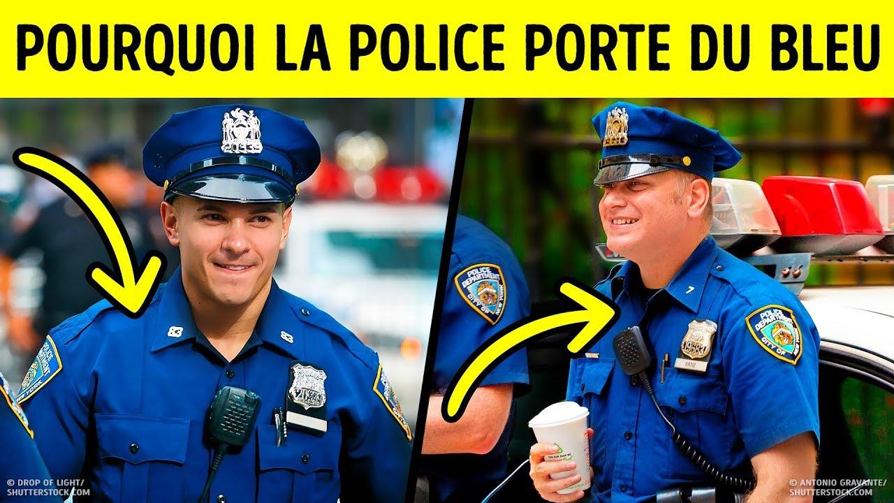 La principale raison pour laquelle la police porte du bleu #1