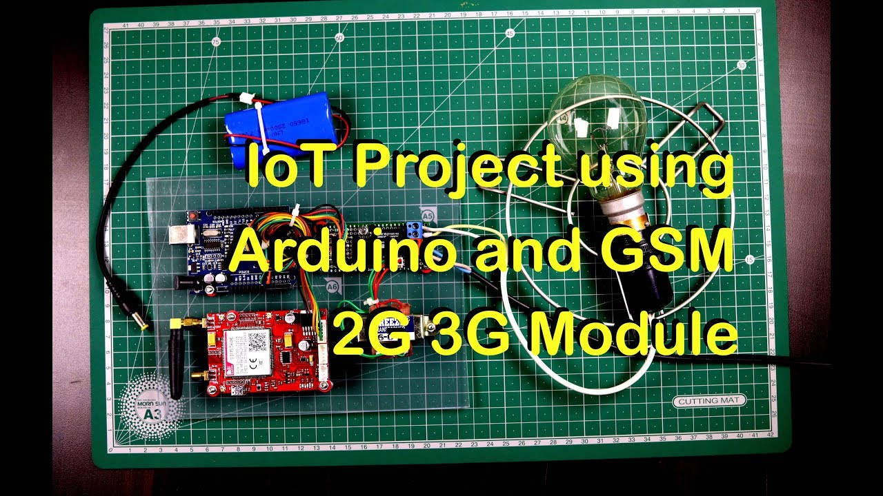 IoT Project using Arduino and GSM 2G-3G SIM5360 Module and Thingspeak com  website