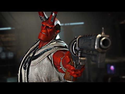Injustice 2: ALL HELLBOY Intro Dialogues!!