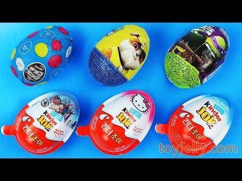 Super Kinder Joy Surprise Egg Baby Toys Paw Patrol TMNT Superhero Nursery Rhymes for Children Kids