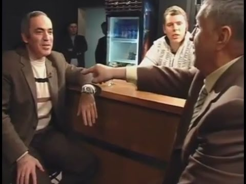 Russian politics. ''Politcocktail'' talk show. Zhirinovsky vs Kasparov (English subs)