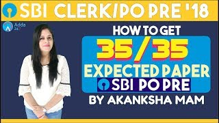 sbi poclerk how to get 35 out of 35 expected paper of sbi clerk pre reasoning akansha mam