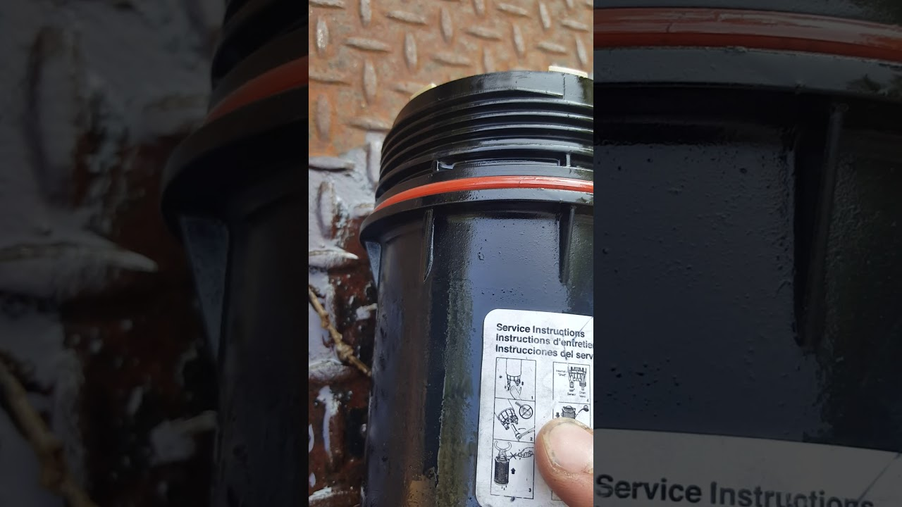 dodge ram 2500 3500 canister fuel filter change [ 1280 x 720 Pixel ]