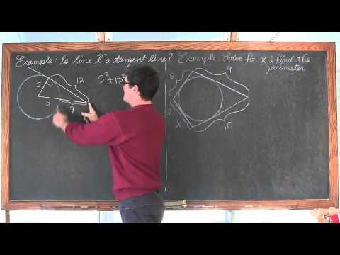 Tangent Lines to Circles