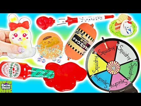 Wheel of Squish! Tabasco Slime and A Sausage Squishy? Doctor Squish