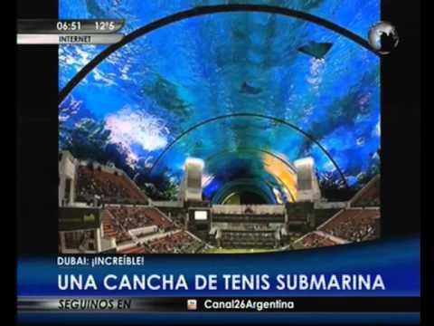 Canal 26 tenis bajo el agua el nuevo capricho de dubai for Hotel bajo el agua precio