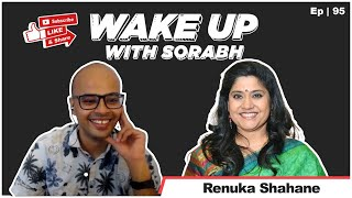 Renuka Shahane Does Not Fall Down Stairs? | Wake Up With Sorabh