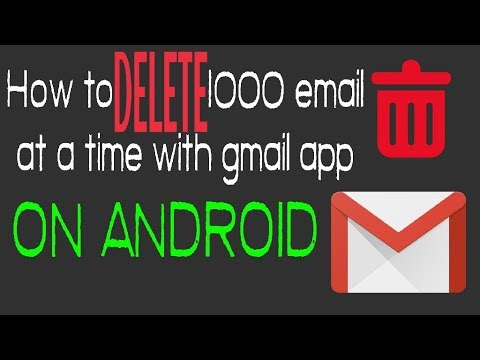 how to delete lots of gmail emails easily