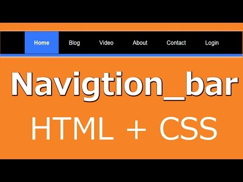 Navigation / Menu Bar With Hover Effects Using Html And Css| Web Zone