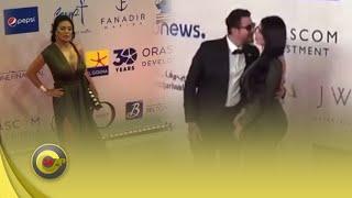 """فستان رانيا يوسف الشبه عاري وقبلة الفيشاوي لزوجتو وسقوط ممثلة مغربية يثيران الجدل لمهرجان """"الجونة"""""""