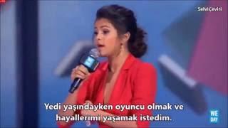Скачать Selena Gomez We Day 2014 Türkçe Altyazılı