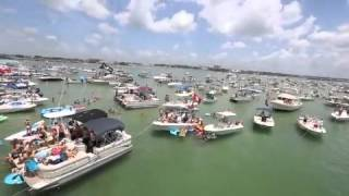 Watch: Thousands Of People In The Water For Gumbo Key