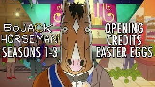 EVERY EASTER EGG in BoJack Horseman's Opening Credits (Seasons 1-3)