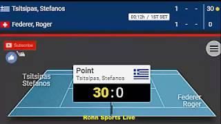 TSITSIPAS vs FEDERER Live Game Australian Open 2019 20.1.19 Score