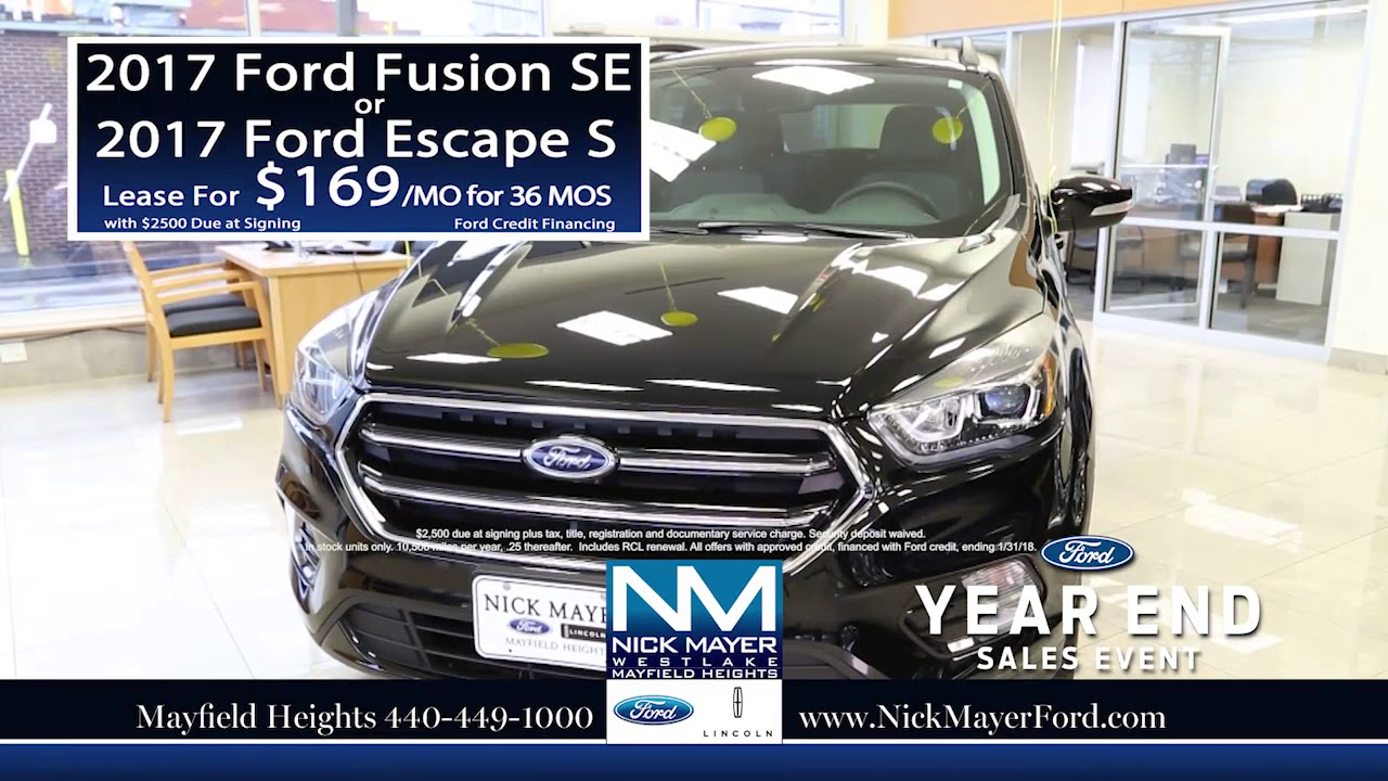 Lease A New Ford Escape Euclid Oh At Nick Mayer Ford Our