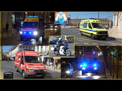 PORTUGAL - Lisbon Emergency Vehicles (compilation)