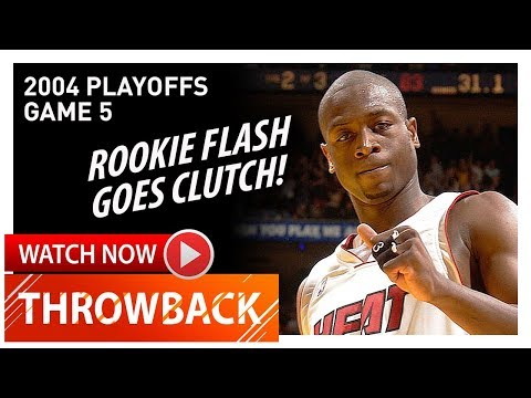 Throwback: Rookie Dwyane Wade Game 5 Highlights vs Hornets (2004 Playoffs) - 21 Pts, CLUTCH!