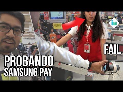 Intentando pagar con Samsung Pay