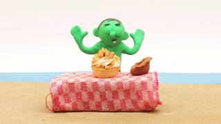 Magic cake 💕Superhero cartoons + How to make Clay Stop motion