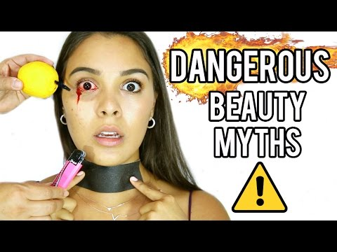 Thumbnail: Dangerous Beauty Myths TESTED! (WARNING: Graphic Content!) NataliesOutlet