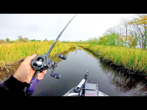 This TINY Canal Is LOADED W/ Bass (Fishing For River Monsters Ep.3)