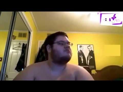 Fat guy dancing to arab music