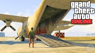 GTA 5 Online: How To Open The Back Of The Titan! Secret Cargo Ramp To Carry Cars Tutorial (GTA V)
