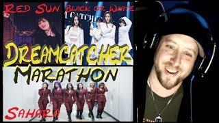 Baixar Dreamcatcher Reaction Marathon! Sahara MV + Red Sun SPECIAL CLIP + Black or White LIVE
