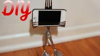 Diy Fork Iphone Stand (gift Idea) -howtobyjordan