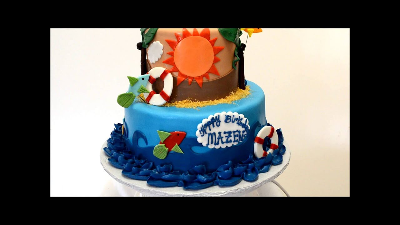 Kids Cake 2nd Birthday Cake Ocean Theme Birthday Cake Youtube