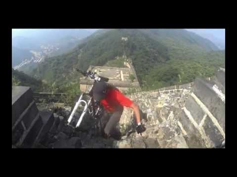 Riding the Great Wall of China