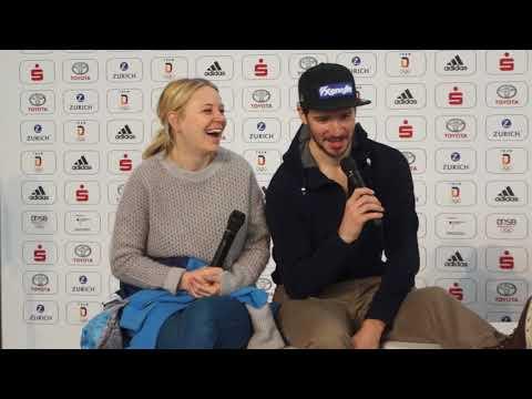 Miriam und Felix Neureuther - Kinder fragen, Teil 1 @ Einkleidung Team Deutschland für Olympia