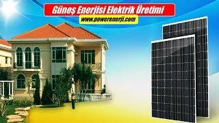 Bir Evin Elektrik İhtiyacını Karşılayacak Güneş Enerjisi Elektrik Üretimi Maliyeti