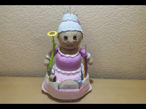 """Кукла шкатулка для рукоделия """"Помощница"""" . Часть 2"""