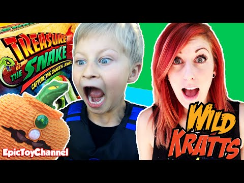 TREASURE OF THE SNAKE GAME + Wild Kratts In Real Life & PRANK Grandma With Snake By Epic Toy Channel