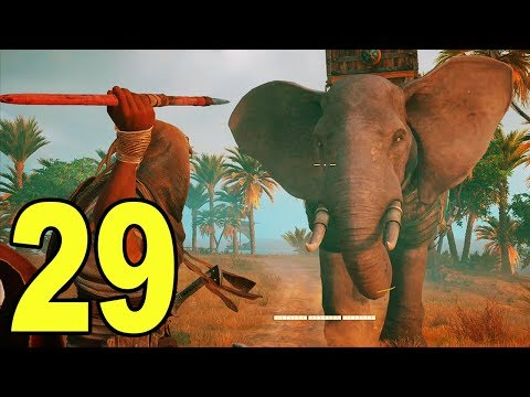 Assassin's Creed Origins - Part 29 - ELEPHANT FIGHT!