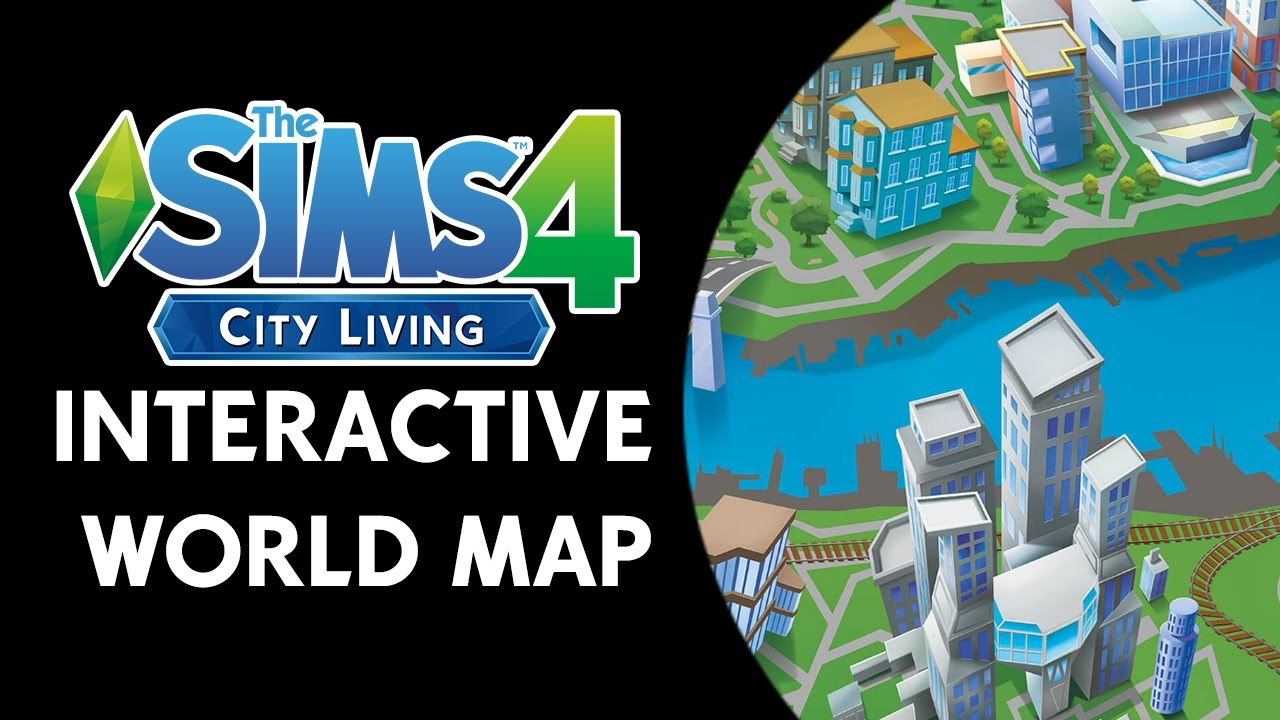 The sims 4 city living san myshuno interactive map youtube gumiabroncs Gallery