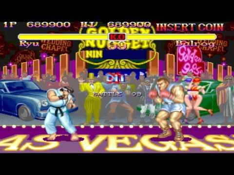 Super Street Fighter 2 arcade Ryu Playthrough
