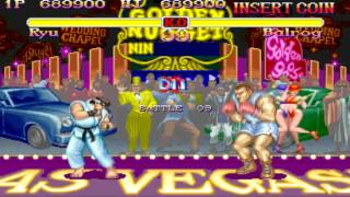 Super Street Fighter 2 arcade Ryu Playthrough