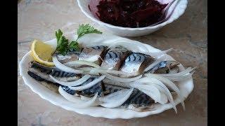 МАЛОСОЛЬНАЯ СКУМБРИЯ. Вкусный посол рыбы/Salted mackerel / herrings