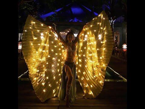 Bali Belly Dance - LED wings - Medusa's Fury - Paul Dinletir