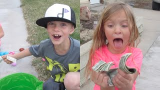 KIDS FIND TONS OF MONEY! Easter Special 2016