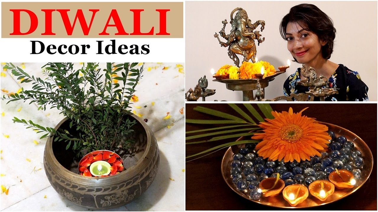 Diwali home decor ideas diya decoration indian for Home decorations diwali