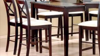 Pryor Cappuccino Counter Height Dining Room Collection From Coaster Furniture