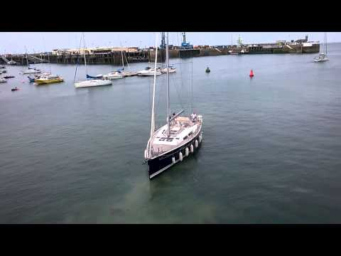 Yacht Gets Stuck on Seabed in St. Peter Port Harbour, Guernsey