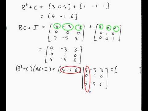 Example Calculating Matrix Multiplication Addition And Transpose