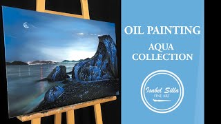 "Photorealistic oil painting: ""Bioluminescence"" 