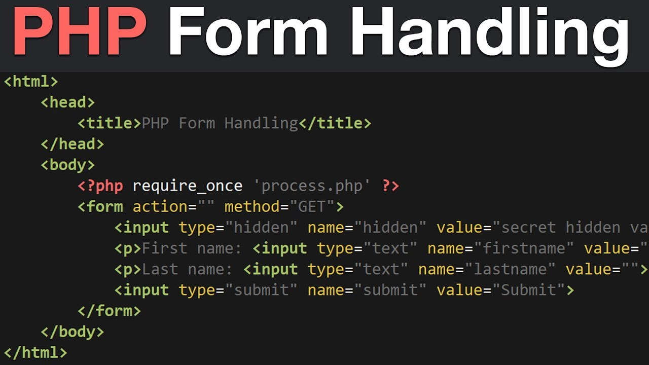 PHP Form Handling Tutorial - GET, POST & REQUEST Global Variables