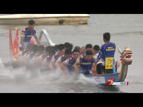 Moments of Dragon Boat Tournament Men's 100 Meter in China